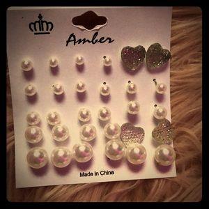 15 pair earrings set